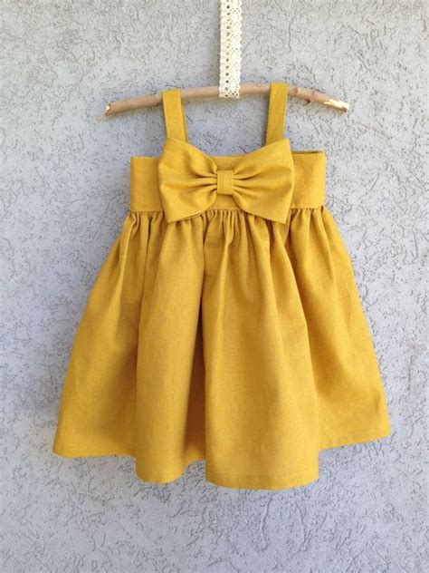 Yellow Baby Dress by Mustard Yellow Big Bow Dress Baby And Toddler Dress