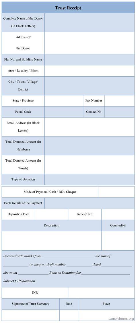 trust receipt form sample trust receipt form sample forms
