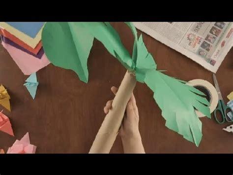 como hacer una palmera de papel como hacer palmas de papel imagui