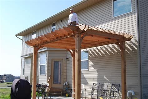 all done installing cedar big kahuna pergola kit for the