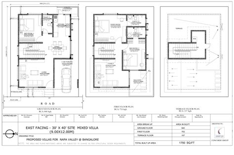 floor plan for 30x40 site 30x40 house plans home deco plans
