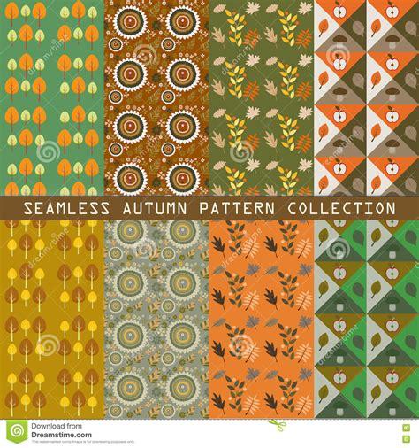 svg pattern collection autumn seamless patterns vector set vector illustration