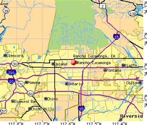 california map rancho cucamonga california map rancho cucamonga