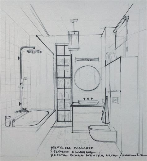 sketch of bathroom sketch of the bathroom interior sketches and drawings