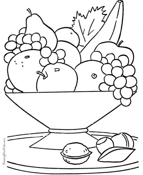 free coloring pages of food worksheet or kids