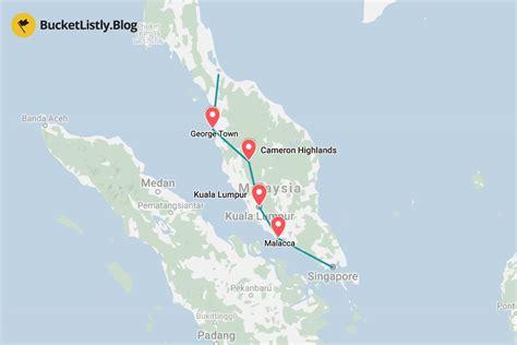 days itinerary  malaysia  backpacking travel