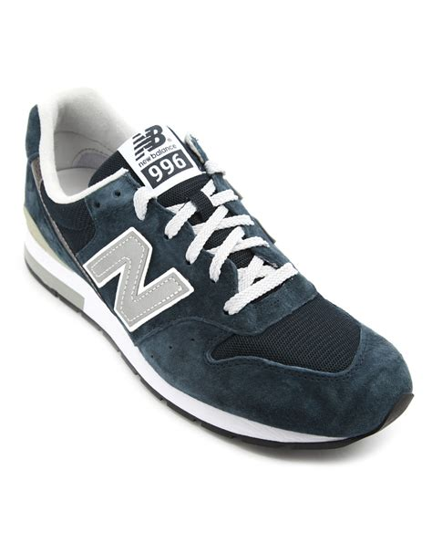 suede sneakers new balance mrl 996 navy suede sneakers in blue for