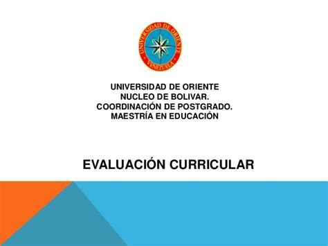 Modelo De Evaluacion Curricular Evaluaci 243 N Curricular