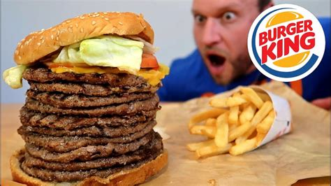 burger kings biggest whopper ever challenge youtube