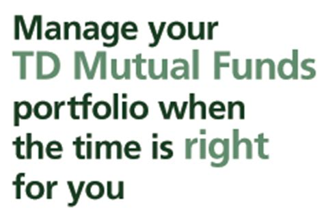 td comfort mutual funds td canada trust investing td mutual funds