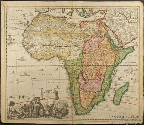africa map 1800 accuratissima totius africae tabula homann africa 1700