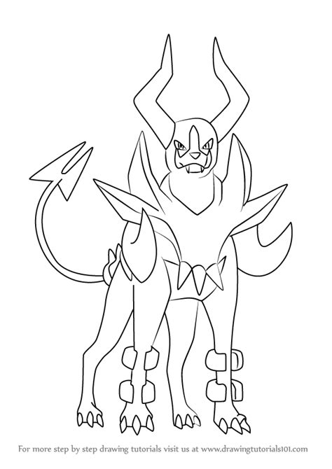 pokemon coloring pages houndoom image gallery houndoom pokemon drawings