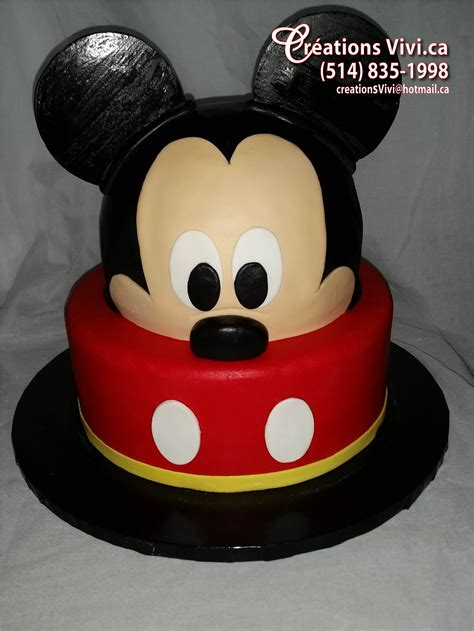Gateau Tete De Mickey by G 226 Teau Mickey Mouse Cr 233 Ationsvivi Ca