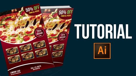tutorial leaflet design adobe illustrator tutorial leaflet design youtube