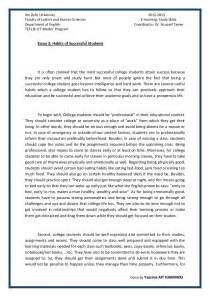 Habits Essay essay 2 succesful college students habits by yassine ait hammou