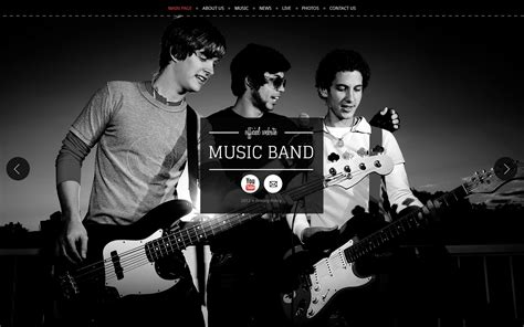 Music Band Website Template 40269 Metal Band Website Template