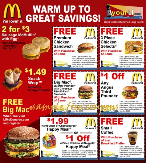 mcdonalds printable vouchers uk 2015 mcdonalds coupons june 2014