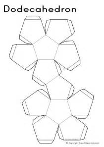 dodecahedron template 3d nets dodecahedron