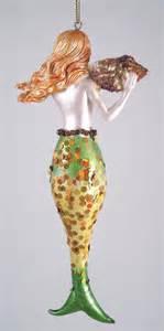 nautical mermaid seashell christmas tree ornament ebay