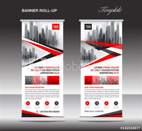 design poster buy red roll up banner stand template poster display