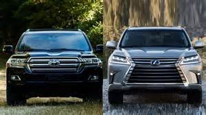 2016 toyota land cruiser vs 2016 lexus lx 570