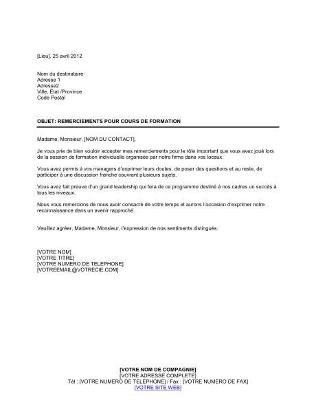 Lettre De Remerciement Formateur exemple lettre remerciement hopital covering letter exle