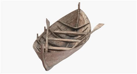 old boat models old row boat 3d model turbosquid 1190119