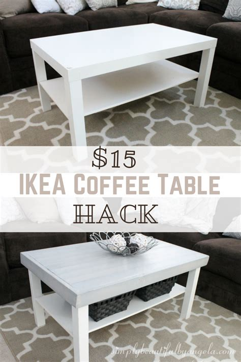 Simply Beautiful By Angela Ikea Lack Coffee Table Hack Ikea Hack Lack Coffee Table