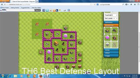 layout for th6 th6 best defense layout youtube