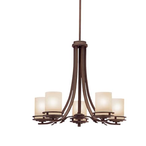 kichler lights transitional 5 light chandelier in olde bronze hendrik
