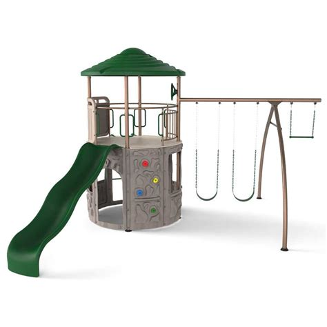 lifetime swing sets lifetime 90440 swing sets lifetime adventure tower