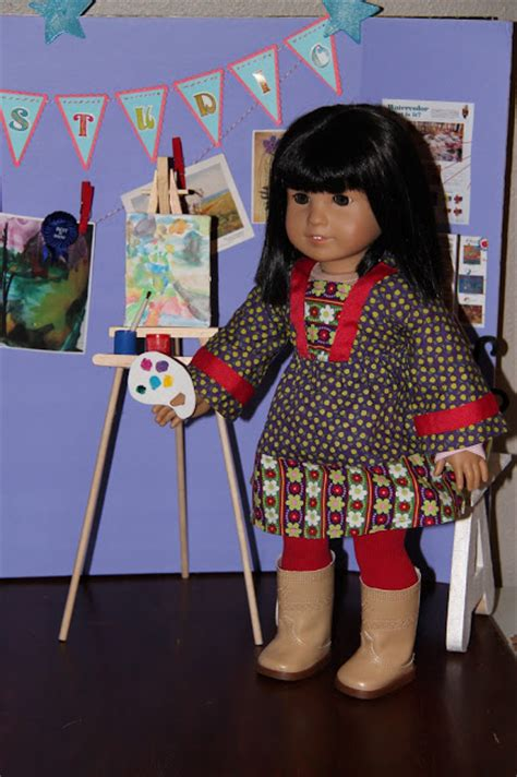 doll easel american doll play doll craft saige s easel
