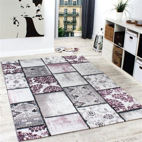 design teppiche edler designer teppich patchwork vintage look teppich