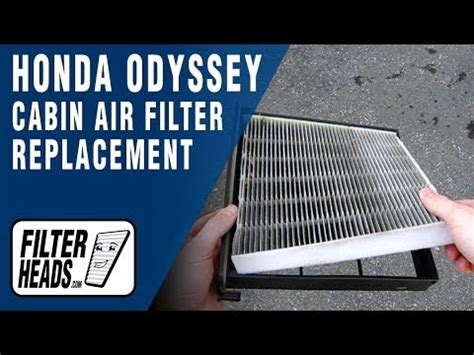 Honda Odyssey Cabin Air Filter by How To Replace Cabin Air Filter Honda Odyssey