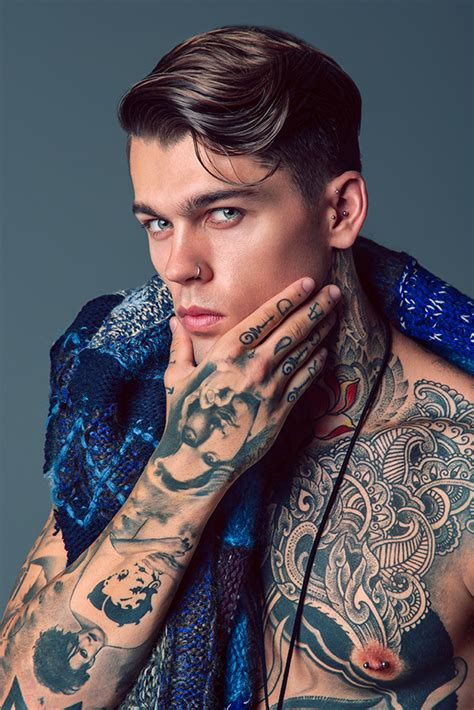 tattooed male models stephen sleeve ideas tatluv tatluv