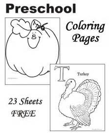 thanksgiving coloring pages for kindergarten free coloring pages of preschool activities