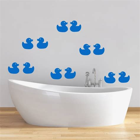 Rubber Duck Wall Stickers rubber ducks bathroom wall stickers by mirrorin