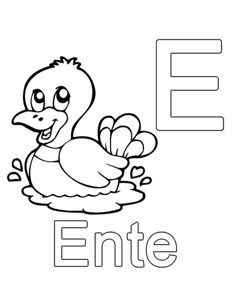 german alphabet coloring pages letter e to print or download for free
