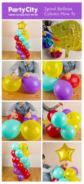 balloon columns on balloon centerpieces