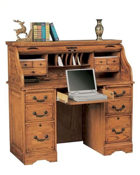 winners only 48 quot computer desk with roll top wo h148r