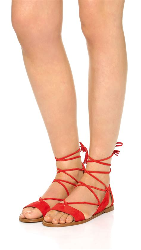 madewell lace up sandals madewell bridget lace up gladiator sandals in lyst