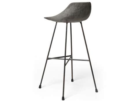 chaise haute de bar en beton