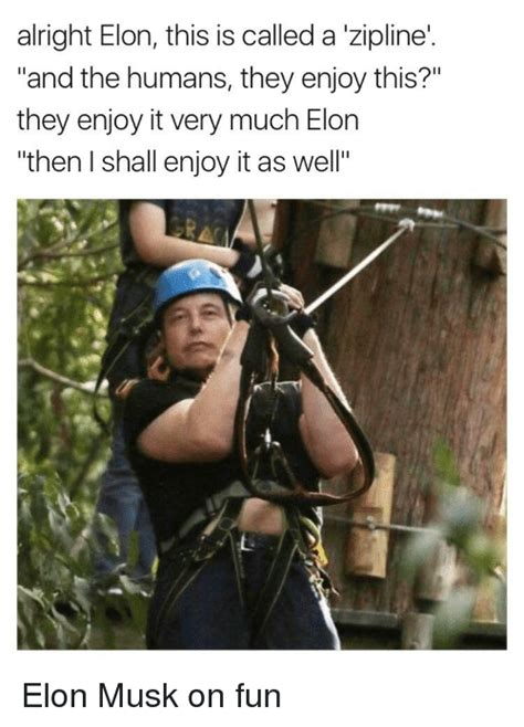 elon musk zipwire alright elon this is called a zipline and the humans