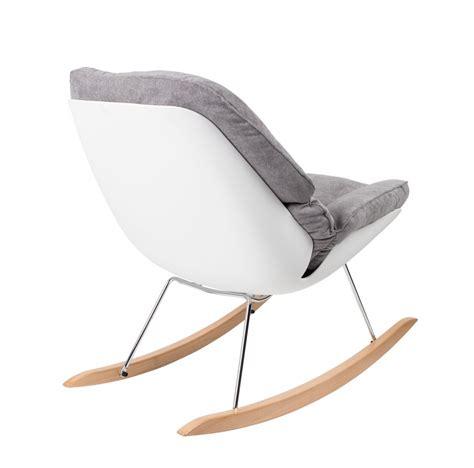 designer schaukelstuhl design schaukelstuhl rocky wei 223 mit polsterung