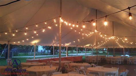 string lights for wedding rental allcargos tent event rentals inc vintage string lights