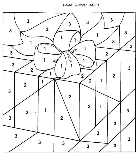 free holiday color by number coloring pages christmas gift color by number coloring pages for kids 91