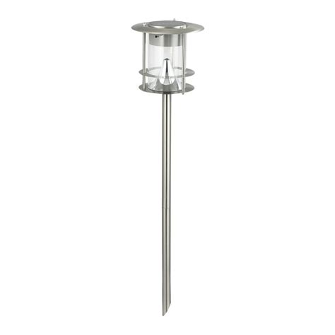 solar led path lights shop btr brushed stainless steel solar led path light at