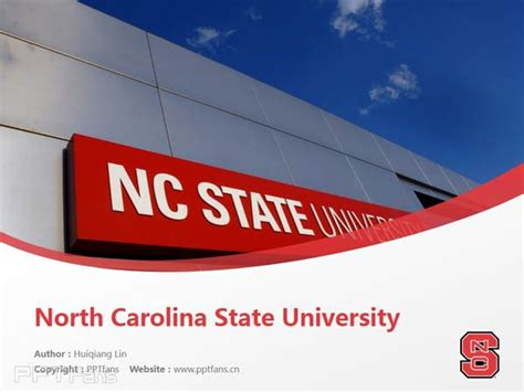 North Carolina State University Powerpoint Template Download 北卡罗莱纳州立大学ppt模板下载 Ncsu Powerpoint Template