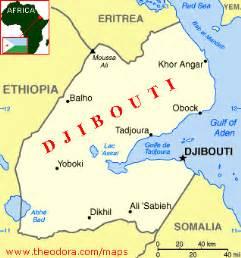 Djibouti Africa Map by Apunproject Djibouti