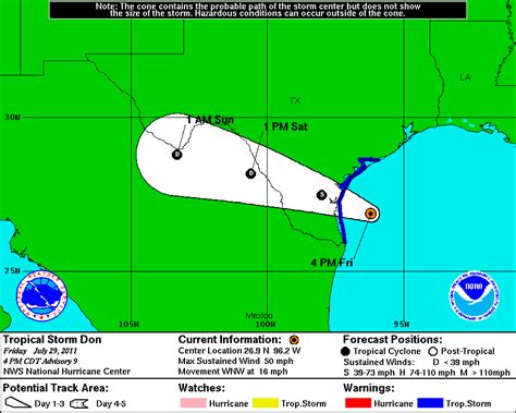 The Original Weather Blog: Tropical Storm Don Nearing the